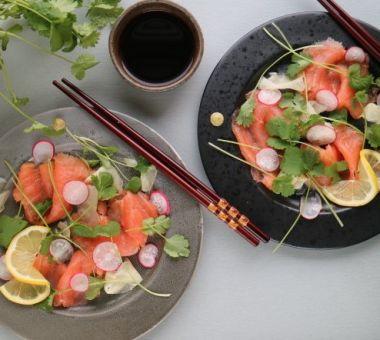 Päivällisvinkkinä Sashimi säilötyllä inkiväärillä