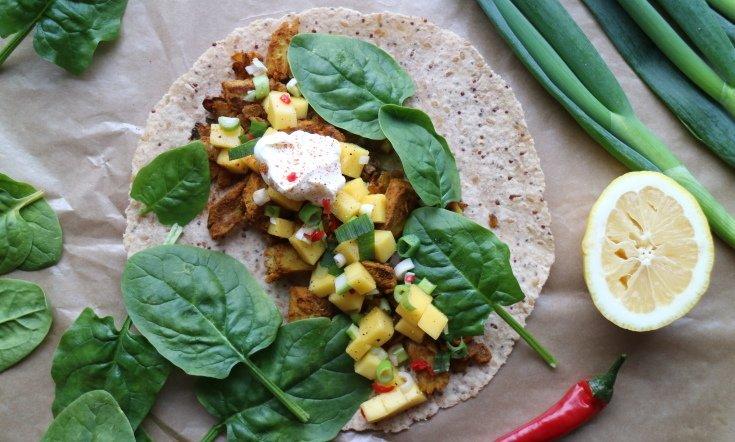 Maukas ja terveellinen kasvis-tacowrap