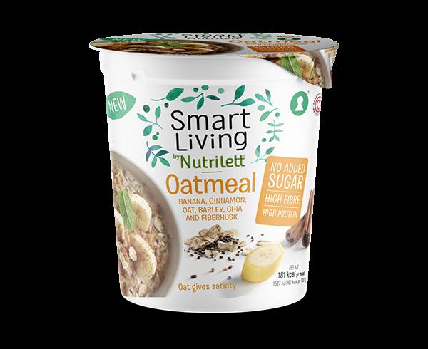 Tuotekuva: Smart Living by Nutrilett, sokeriton kaneli-banaani kaurapuuro.