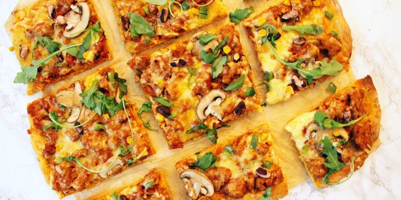 Kuva: Valmiiksi paistettu bataattipizza